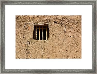 Mission Church Window Framed Print by Joe Kozlowski
