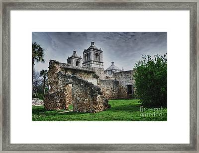 Mission Concepcion San Antonio Texas Framed Print by Gerlinde Keating - Galleria GK Keating Associates Inc