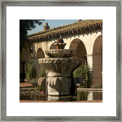 Mission Fountain Framed Print by Art Block Collections