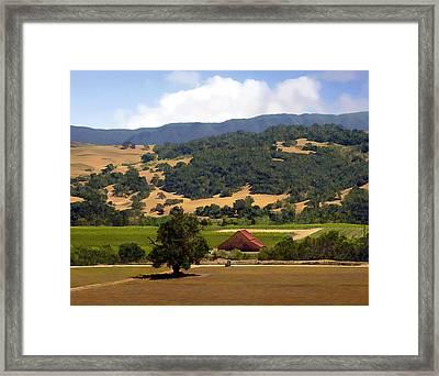 Mission Meadows Solvang California Framed Print by Kurt Van Wagner