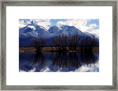 Mission Mountains Mission Valley Framed Print by Thomas R Fletcher