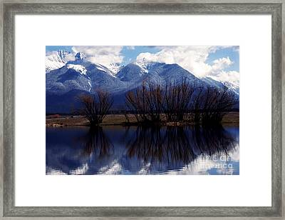 Mission Mountains Montana Framed Print by Thomas R Fletcher