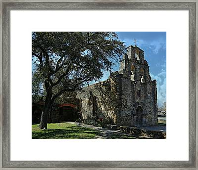 Mission San Francisco De La Espada -- San Antonio Mission Trail Framed Print by Stephen Stookey