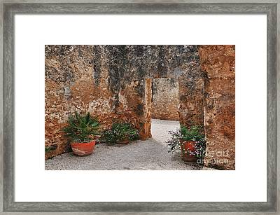 Mission San Jose At San Antonio Texas Framed Print by Gerlinde Keating - Galleria GK Keating Associates Inc