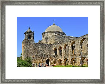Mission San Jose - San Antonio Framed Print by Christine Till
