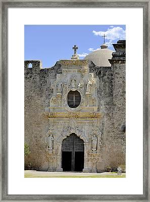 Mission San Jose - San Antonio Tx Framed Print by Christine Till