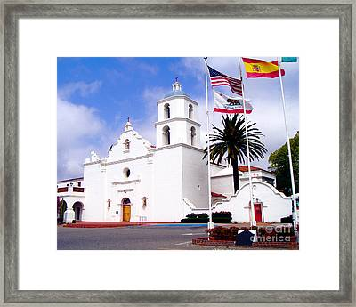 Mission San Luis Rey Framed Print by Jerome Stumphauzer