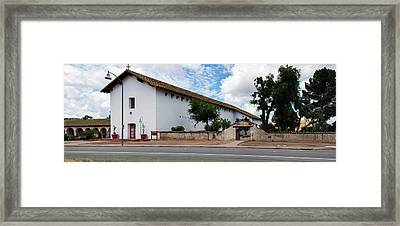 Mission San Miguel Church At Roadside Framed Print by Panoramic Images