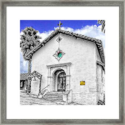 Mission San Rafael Arcangel Framed Print by Ken Evans