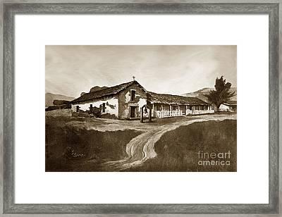 Mission San Rafael California  Circa 1880 Framed Print by California Views Mr Pat Hathaway Archives