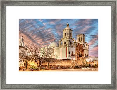 Mission San Xavier Del Bac 2 Framed Print by Bob Christopher