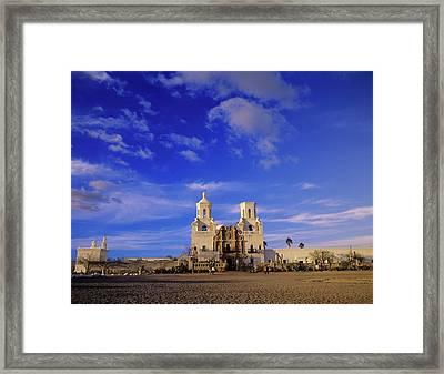 Mission San Xavier Del Bac, Tucson Framed Print by Howie Garber
