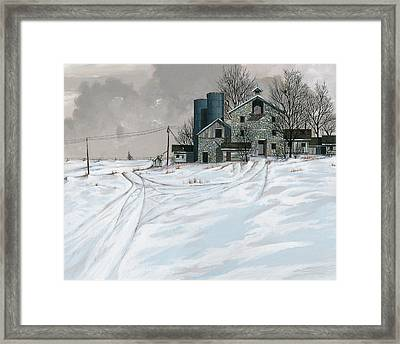 Mission Valley Farmstead Framed Print by John Wyckoff