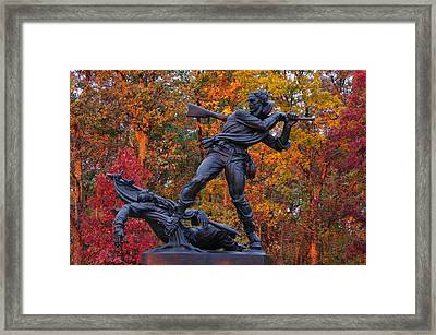 Mississippi At Gettysburg - The Rage Of Battle No. 1 Framed Print by Michael Mazaika