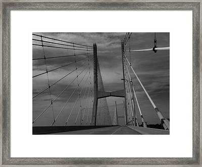 Mississippi River Bridge Framed Print by Dan Sproul