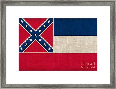 Mississippi State Flag Framed Print by Pixel Chimp