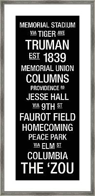 Missouri College Town Wall Art Framed Print by Replay Photos