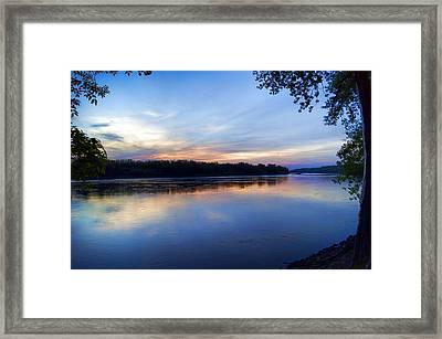 Missouri River Blues Framed Print by Cricket Hackmann