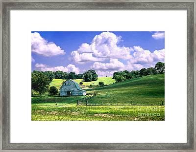 Missouri River Valley Framed Print by Steve Karol