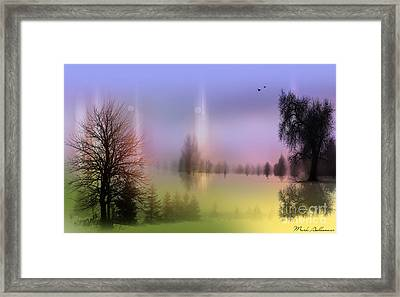 Mist Coloring Day 2 Framed Print by Mark Ashkenazi