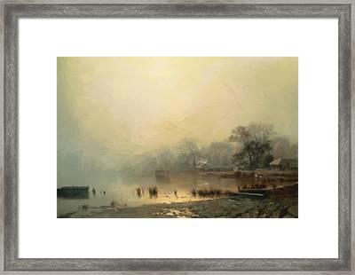 Mist In The Morning Framed Print by Georgiana Romanovna