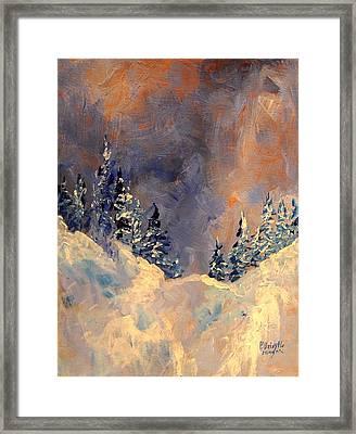 Mist On The Snow Peak Framed Print by Patricia Brintle