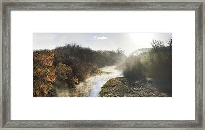 Mists Of Russian River Framed Print by Stan Angel