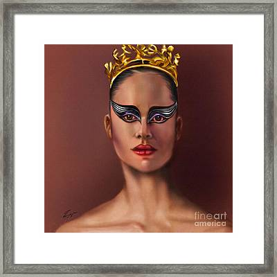 Misty Copeland  As The Black Swan Framed Print by Reggie Duffie