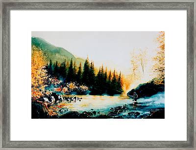 Misty Fishing Morning Framed Print by Hanne Lore Koehler