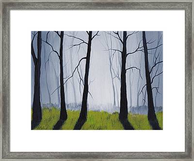 Misty Forest Framed Print by Anastasiya Malakhova