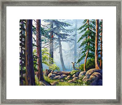 Misty Morning Framed Print by CB Hume