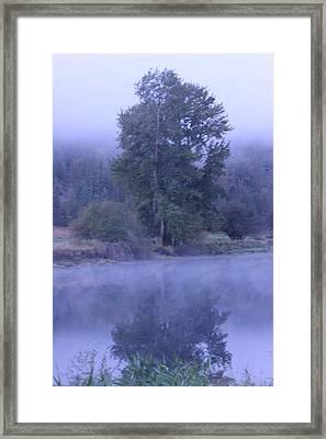 Misty Morning On The St Joe 3 Framed Print by Linda Meyer