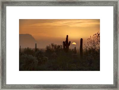 Misty Morning  Framed Print by Saija  Lehtonen
