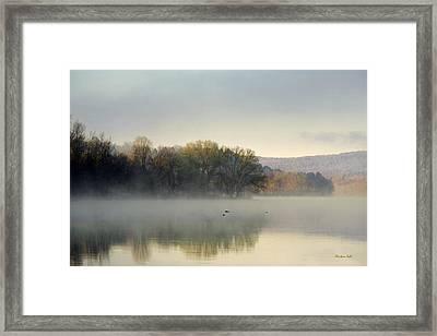 Misty Morning Sunrise Framed Print by Christina Rollo