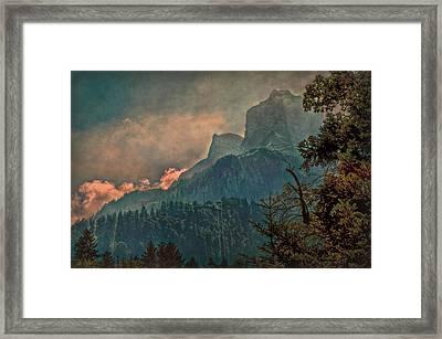 Misty Mountain Framed Print by Hanny Heim