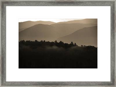 Misty Mountain Morning In Tennessee Framed Print by Dan Sproul