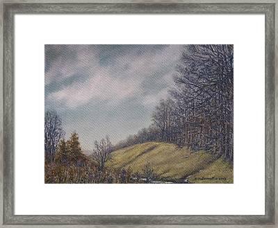 Misty Mountain Valley Framed Print by Kathleen McDermott