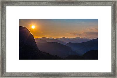 Misty Mountains Framed Print by Mike Lee
