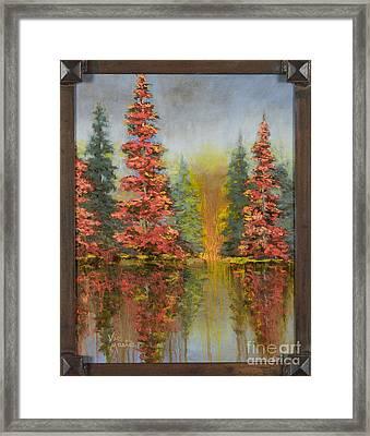 Misty Reflection Framed Print by Vic  Mastis