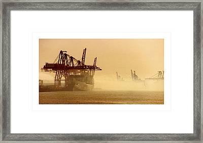 Misty Seattle Waterfront Framed Print by Jack Pumphrey