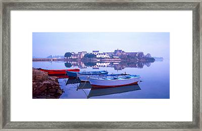 Misty Sunrise Over Etel River Framed Print by Panoramic Images