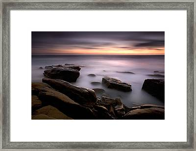 Misty Water Framed Print by Peter Tellone