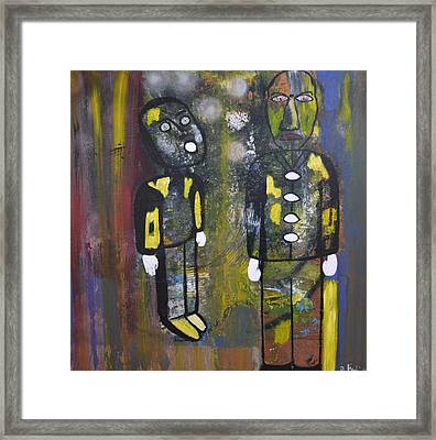 Misunderstanding Between Father And Son Framed Print by Daniele Fedi