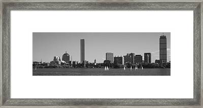 Mit Sailboats, Charles River, Boston Framed Print by Panoramic Images
