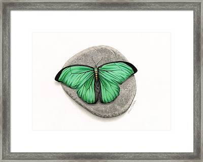 Mito Awareness Butterfly- A Symbol Of Hope Framed Print by Sarah Batalka