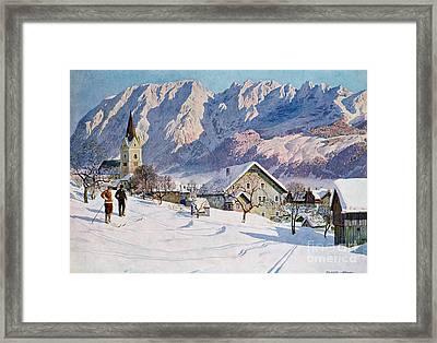 Mitterndorf In Austria Framed Print by Gustave Jahn