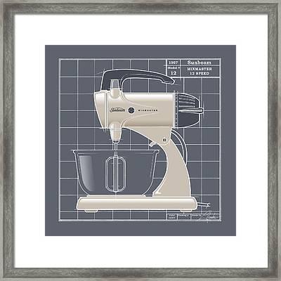 Mixmaster - Ivory Framed Print by Larry Hunter