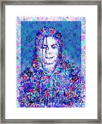 Mj Floral Version 2 Framed Print by Bekim Art