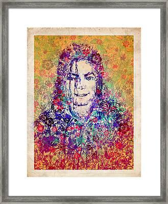 Mj Floral Version 3 Framed Print by Bekim Art