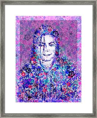 Mj Floral Version Framed Print by Bekim Art